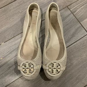 Tory Burch off white flats